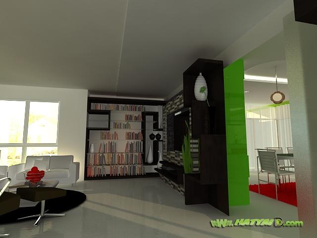 ห้องนั่งเล่นโทนเขียว