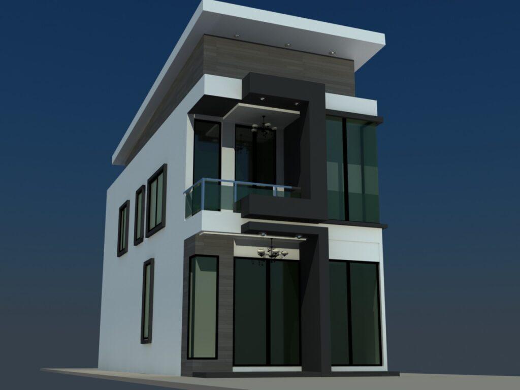 ออกแบบบ้านหน้าแคบ