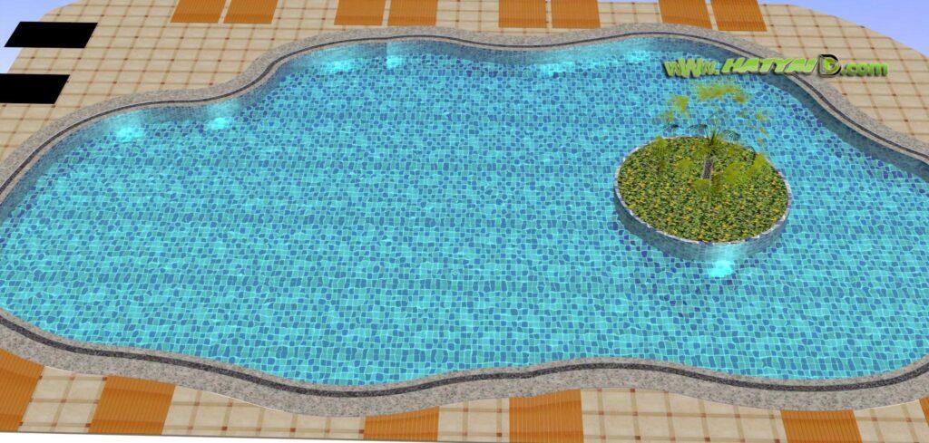 ออกแบบสระว่ายน้ำในรีสอร์ท